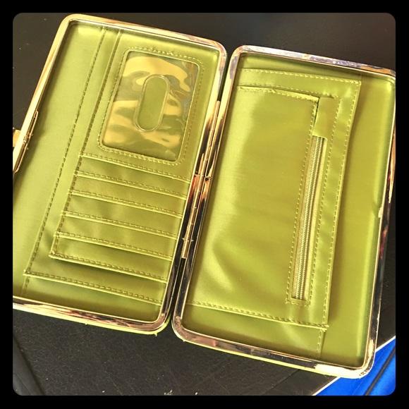 kristine Handbags - KRISTINE lime green snap hard wallet